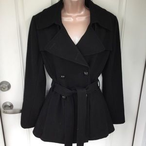 Via Spiga black wool blend short coat
